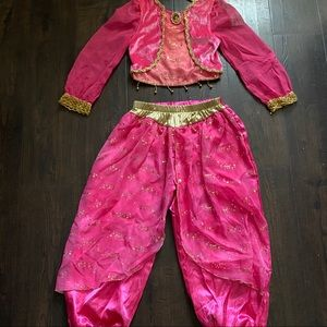 Disney Jasmine Pink 2 pc Costume small 5-6